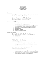 Example Of Nurse Resume Resume Template Ideas