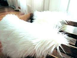 white faux fur area rug fake fur rug incredible white faux fur area rug dark brown