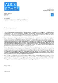 Examples Of A Professional Cover Letters Cover Letter Examples By Real People Management Trainee