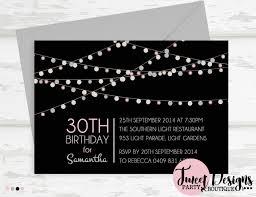 30th birthday invitation printable 30th birthday invitation printable 30th lights invitation invitation 40th birthday invitation