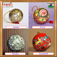Hand Decorated Christmas Balls Hand Painted Paper Mache Christmas Decoration 100 Baubles Balls 89