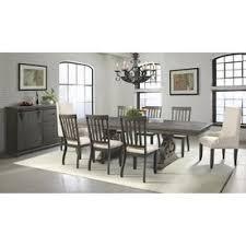 picket house furnishings stanford smokey dark ash dining set
