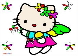 Tranh tô màu hello kitty đẹp, cute dễ thương nhất cho bé