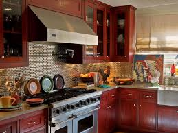 Kitchen With Red Appliances Kitchen Colors Kitchen Cabinets Nesting Colored Kitchen Cabinets