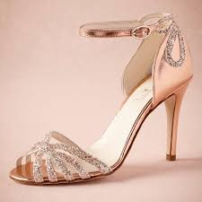 gold wedges for wedding. rose gold glittered heel real wedding shoes pumps sandals leather buckle closure glitter party dance high wrapped heels women wedges for