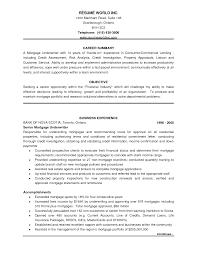 Fascinating Insurance Underwriter Resume For Underwriter Resume