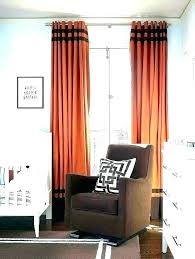 orange patterned curtains vintage insulated striped bedroom red blackout and blue bl