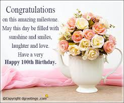 100th Birthday Messages Dgreetings Com