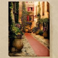 fleurs de rue canvas wall art multi warm
