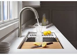 Kitchen sinks and faucets Copper Spokeswoman For Kohler Told Macrumors That Its Sensate Touchless Kitchen Faucet And Dtv Shower System Will Be The First Of The Kohler Konnect Products To Blanco Ces 2018 Kohlers New Sensate Kitchen Sink Faucet And Dtv Shower