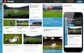 Template Website Classy Live Info A Sports Category Flat Bootstrap Responsive