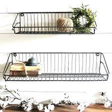 simple ideas wire basket wall shelves with hooks x 2 wire basket wall organizer shelf round