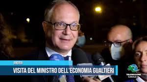 Andria Visita del ministro dell economia Gualtieri TG Teleregione 17 09  2020 1 - YouTube