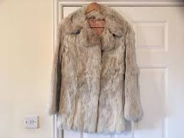 real coney fur jacket size 14