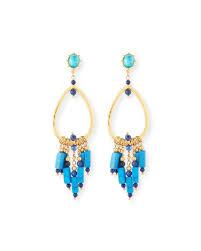 quick look sequin turquoise chandelier earrings