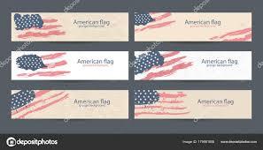 American Flag Website Background Set American Flag Banner Design Collection Usa Backgrounds