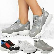 Details About Womens Ladies Chunky Dad Sneakers Trainers Bali Runners Designer New Shoes Size
