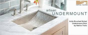 undermount bathroom sinks. nickel undermount bathroom sink sinks | interior design ideas