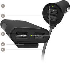 Buy the Belkin Road Rockstar 4 Port USB Car Charger