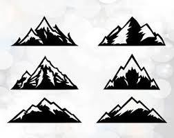 Mountain Svg - Mountain Clipart - Silhouette Cut Files - Cricut Designs - Mountains  silhouette SVG