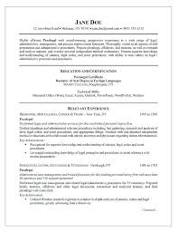 paralegal resume samples 2012 sample entry level gallery collection of  solutions on form resu