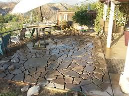 recycling an old broken concrete patio