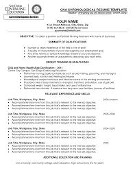 Cover Letter Sample Resume Cna Sample Cna Resume For Hospital