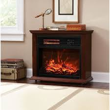 large room electric quartz infrared fireplace heater deluxe mantel oak walnut