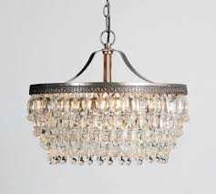 pottery barn clarissa glass drop small 19 round crystal chandelier