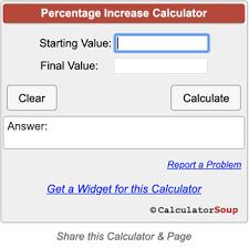 percene increase calculator
