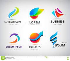 Free Abstract Logo Design Vector Set Of Abstract Logo Design Web Icons 3d Templates