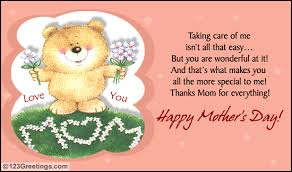 Mothers Greeting Card A Cute Postcard For Your Mom Free Special Moms Ecards Greeting