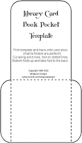 Pocket Template Mirkwood Designs Artistry In Rubber Library Card Book
