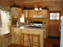 Cottage Kitchen Furniture Divine Rustic Cottage Style Kitchen With Wooden Unfisnished