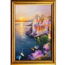 <b>Картина в раме РУССКАЯ</b> КОЛЛЕКЦИЯ Riomaggiore 30х20см ...