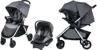 evenflo stroller and cat head over to score this folio fold travel system with infant car
