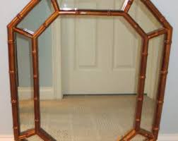 gold bamboo mirror. Faux Bamboo Gold Octagonal Mirror-Local Pick Up/Your Shipper/Fedex/UPS Mirror
