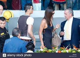 Madrid, Spain - Real Madrid soccer superstar Cristiano Ronaldo and his  girlfriend-supermodel Irina Shayk attend the Rafael Nadal vs. David Ferrer  tennis match for the Madrid Open in Madrid, Spain. The couple