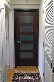 mahogany interior shaker door frosted glass ny condo replacement