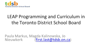 Tdsb Organizational Chart Leap Programming And Curriculum In The Toronto District