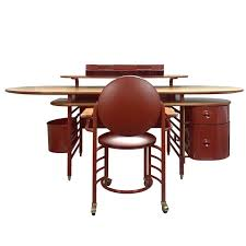 rare johnson wax one desk and chair by frank lloyd wright for cassina for