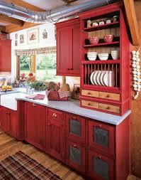 Meuble De Cuisine En Bois Rouge Idées De Décoration Intérieure