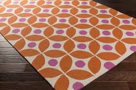 surya miranda mra1002 orange pink outdoor area rug