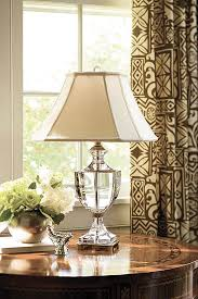 luxurious lighting. Crystal Lamps; Beautiful Decor Featuring Solid Lamp On The Luxurious Inlaid Wood Table In Lighting D