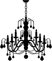 drawn chandelier wall decal 10
