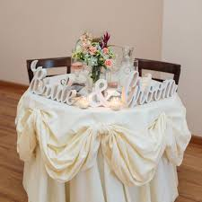 Best 25+ Bride groom table ideas on Pinterest   Reception decorations, Bridal  table decorations and Sweet heart table wedding