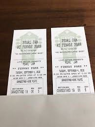 Fenway Park Pearl Jam 2018 Seating Chart 2 Tickets Pearl Jam 9 2 18 Fenway Park 1 232 00 Picclick