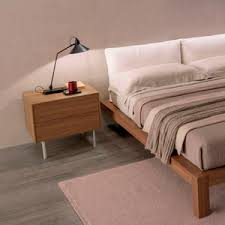 contemporary bedside table  elm  rectangular  with drawer