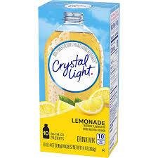 Crystal Light Sugar Free Lemonade Powdered Drink Mix 10 Ct 0 14 Oz Packets