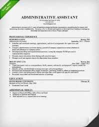 Resume Example Administrative Assistant Resume Samples Free